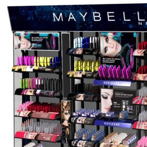 Maybelline - Projeto de móvel expositor de maquiagem